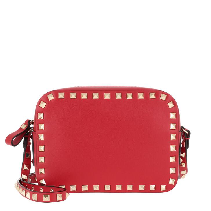 Handtasche, Valentino Garavani, Rockstud Camera Crossbody Bag Rouge Pur
