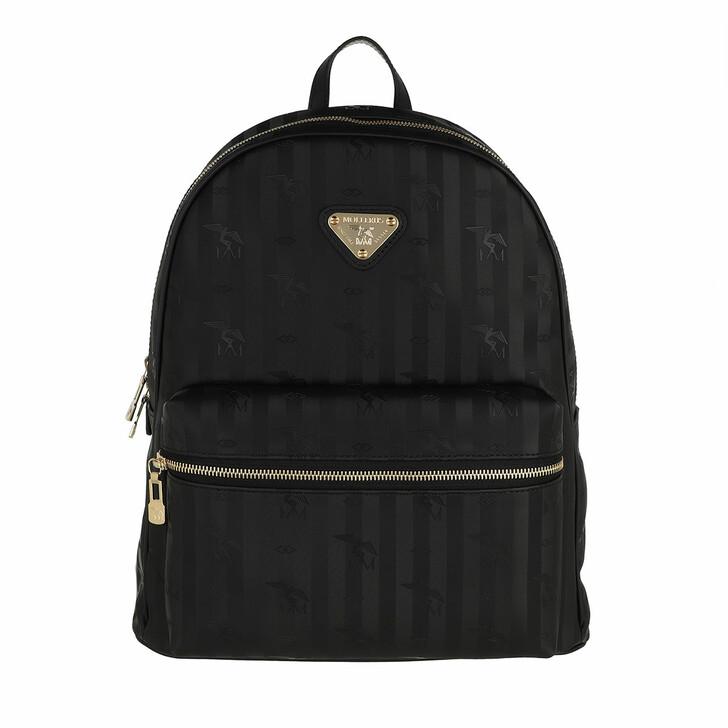 bags, Maison Mollerus, Glarus Backpack Black Gold