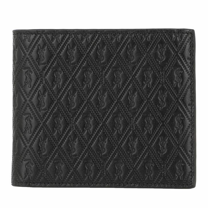 Geldbörse, Saint Laurent, Monogram Wallet Leather Black