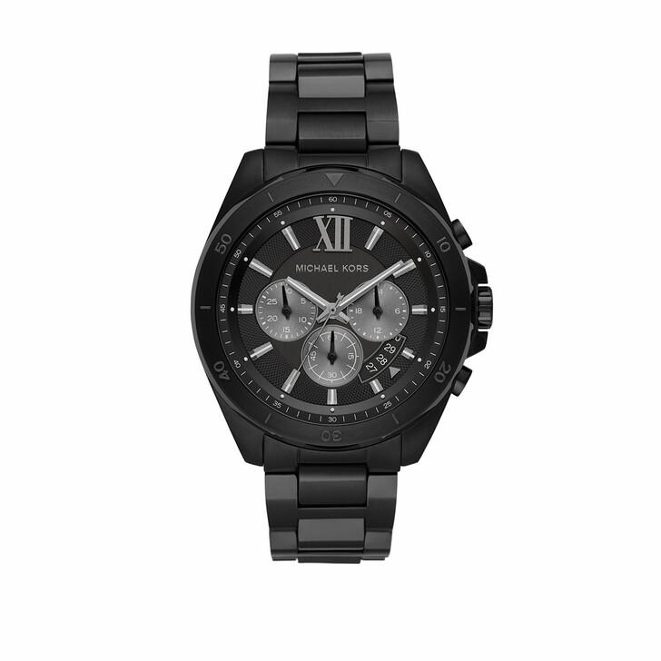 watches, Michael Kors, Men Brecken Chronograph Stainless Steel Watch Black