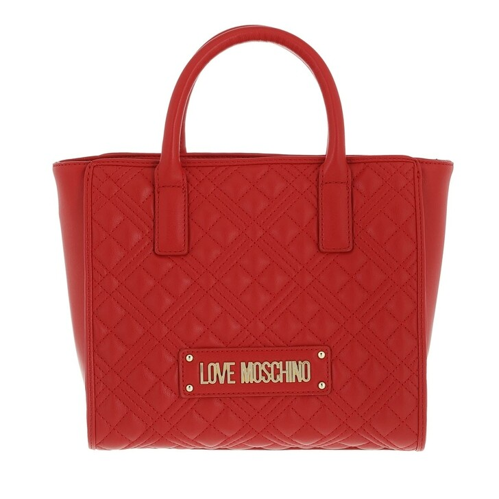 bags, Love Moschino, Borsa Quilted Pu  Rosso