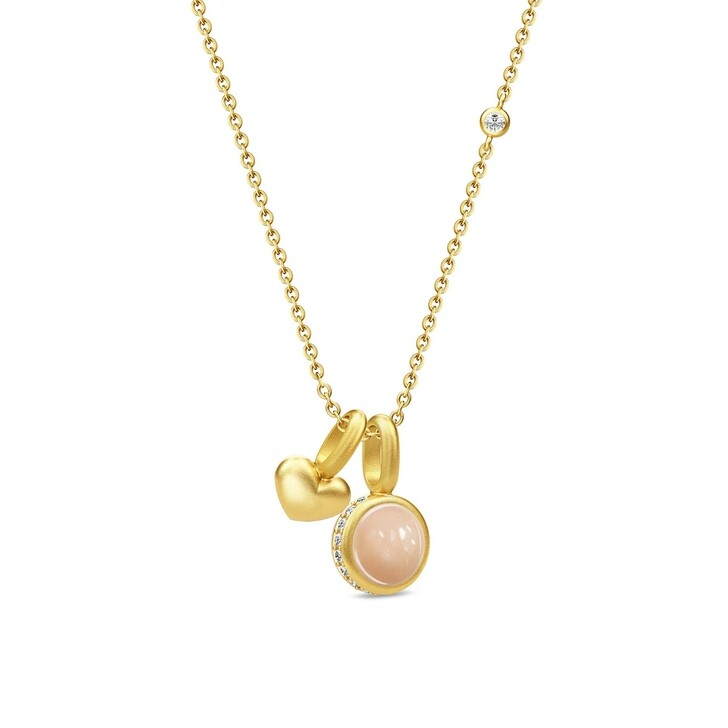 Kette, Julie Sandlau, Luna Love Necklace Gold/Peach