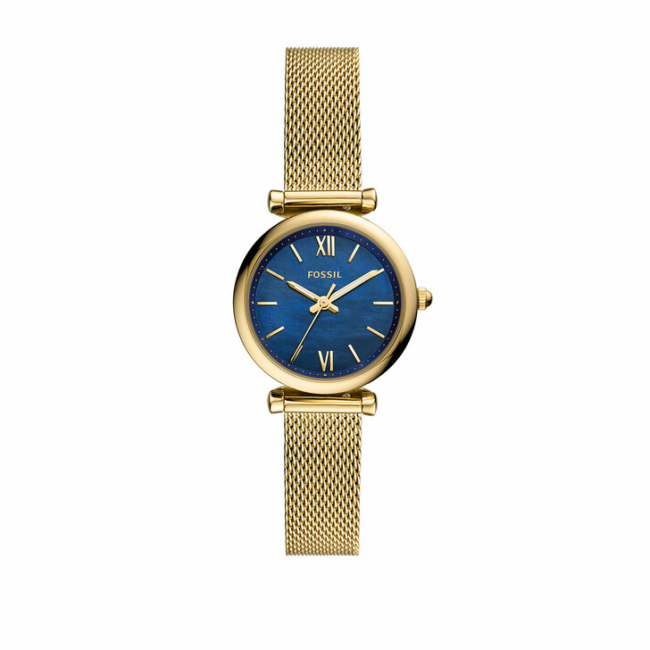 Uhr, Fossil, Carlie Mini Three-Hand Stainless Steel Mesh Watch Gold