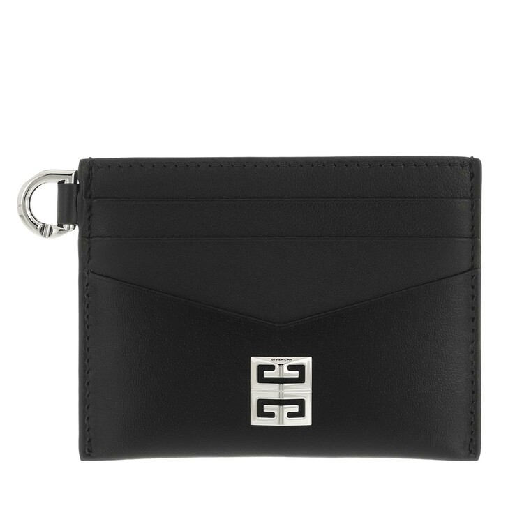 wallets, Givenchy, 4G Card Case Black