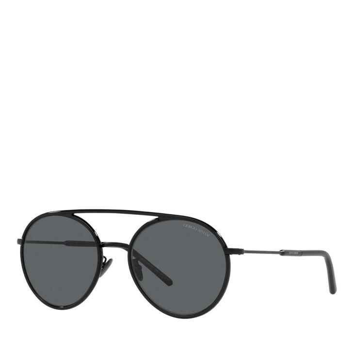 sunglasses, Giorgio Armani, 0AR6121J Shiny/Matte Black