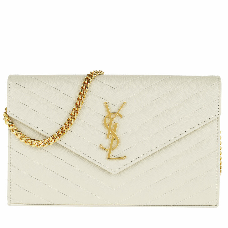 Handtasche, Saint Laurent, Monogramme Chain Wallet White