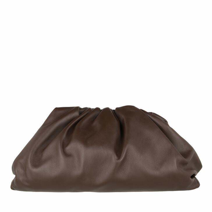 Handtasche, Bottega Veneta, Pouch Bag Leather Brown/Gold