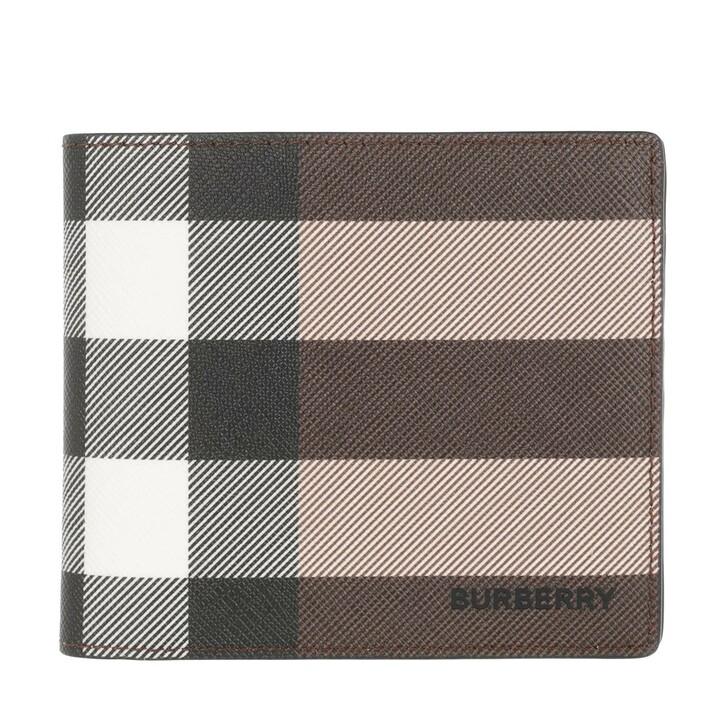 Geldbörse, Burberry, Card Holder Wallet Leather Dark Birch Brown
