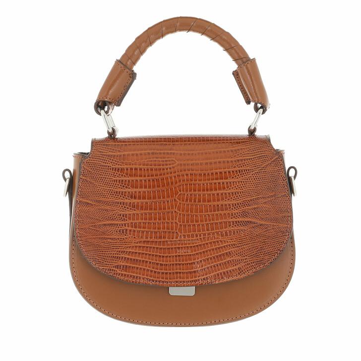 bags, Tiger of Sweden, Small Leather Handbag Cognac