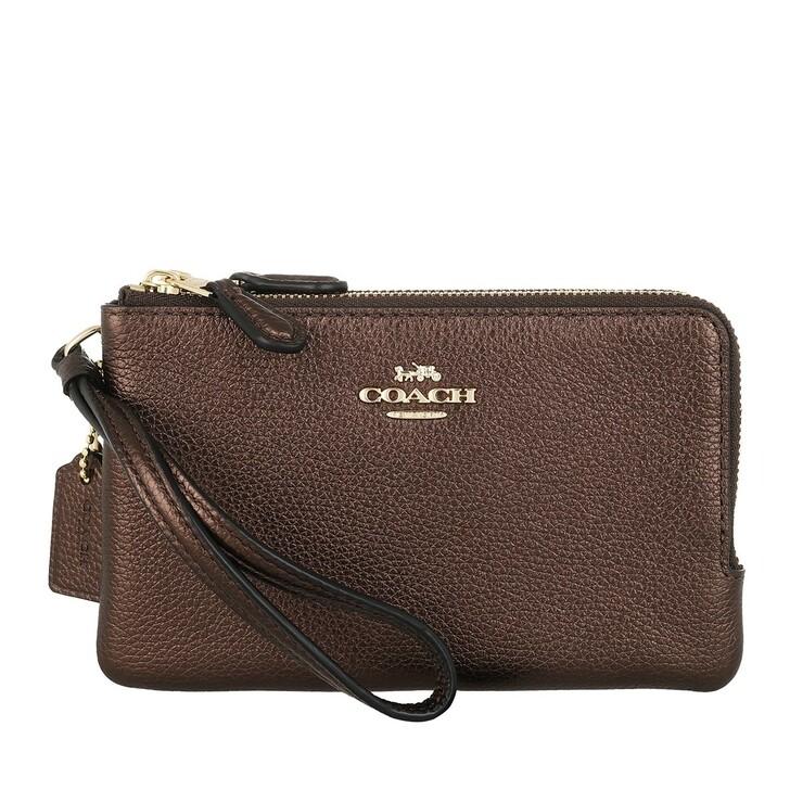 Handtasche, Coach, Womens SLGs Small Wristlets  Brown