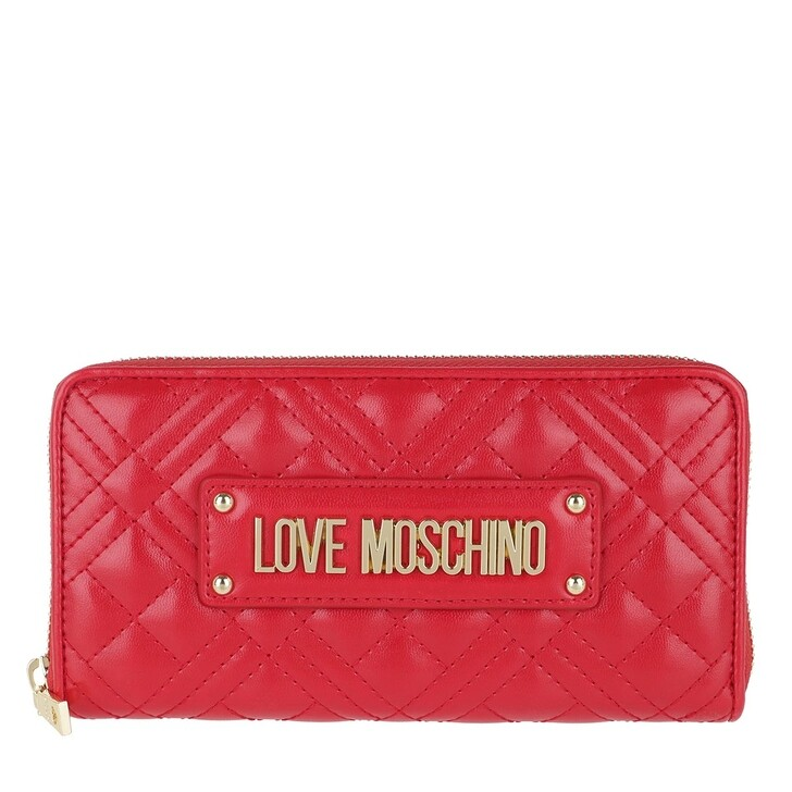 wallets, Love Moschino, Quilted Wallet Rosso