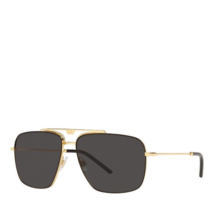 Sonnenbrille, Dolce&Gabbana, 0DG2264 GOLD/BLACK MATTE