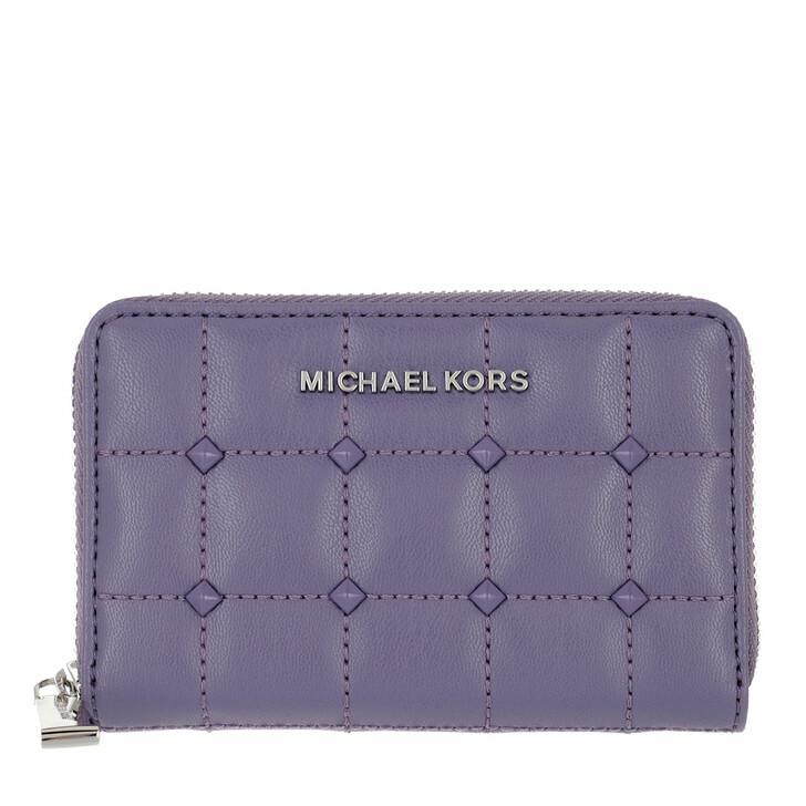 wallets, MICHAEL Michael Kors, Jet Set Sm Za Card Case Orchid Haze
