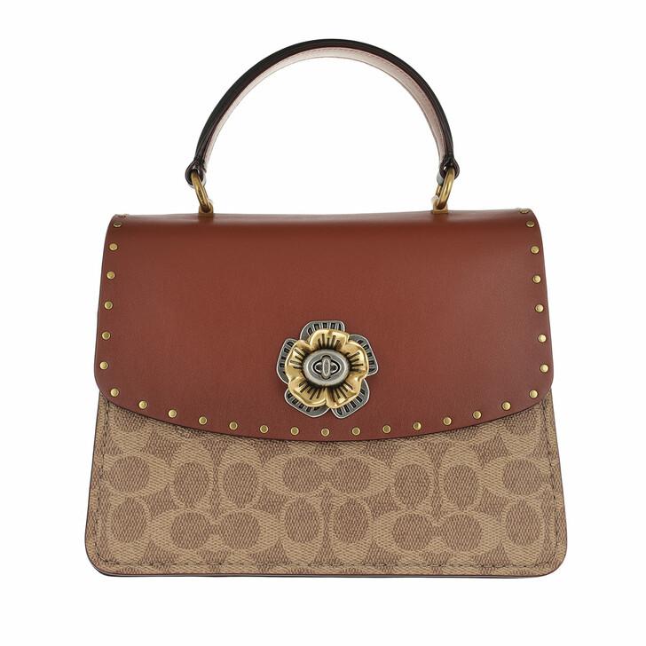 Handtasche, Coach, Aignature Parker Crossbody Bag Beige