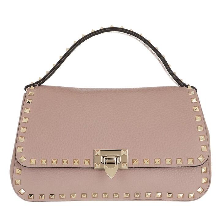 Handtasche, Valentino Garavani, Rockstud Crossbody Bag Leather Poudre