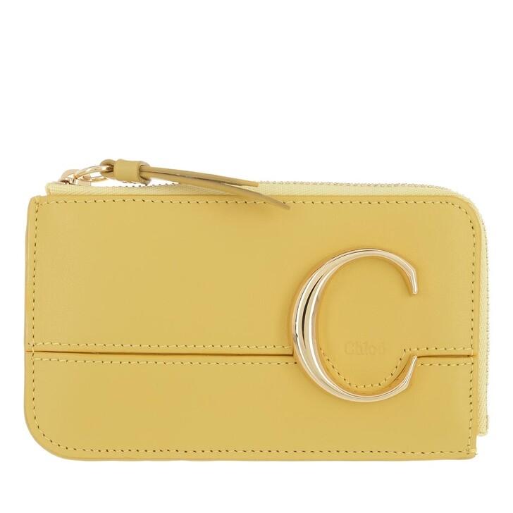 wallets, Chloé, Compact Wallet Sultan Yellow