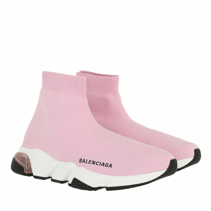shoes, Balenciaga, Speed Sneakers Clearsole Light Pink/White/Black