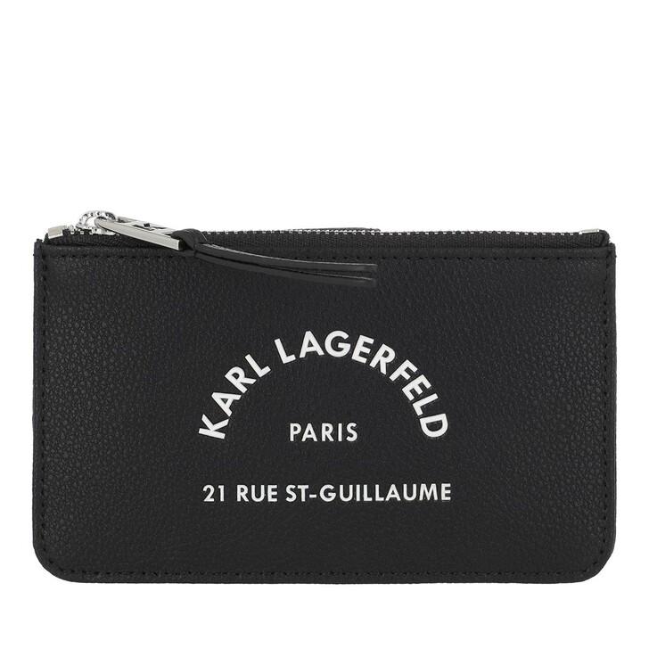 Geldbörse, Karl Lagerfeld, Rue Saint Guillaume Zip Card Hold Black
