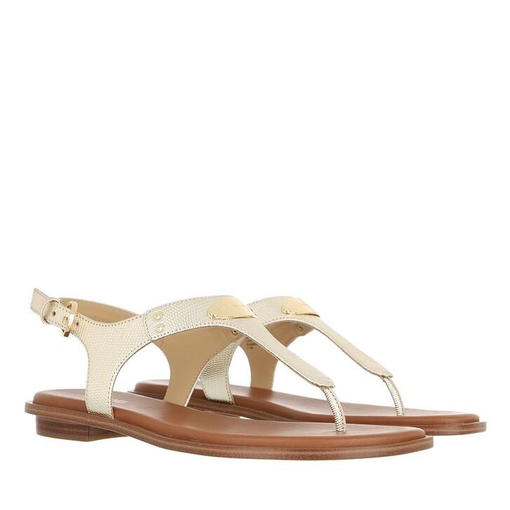 shoes, MICHAEL Michael Kors, Mk Plate Thong Pale Gold