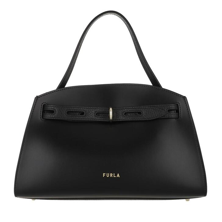 Handtasche, Furla, Furla Margherita M Top Handle - Vitello New Calf+V Nero