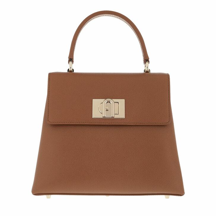 bags, Furla, Furla 1927 S Top Handle Cognac H
