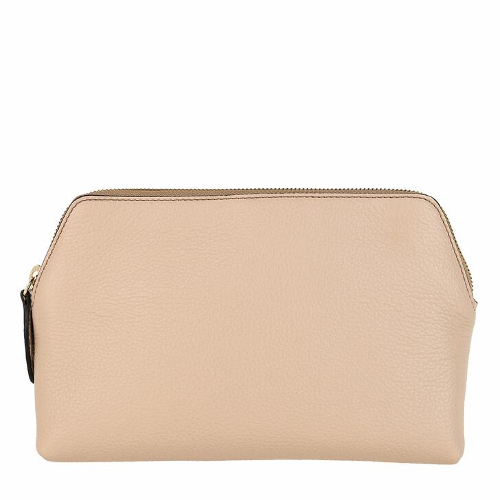 necessaires, Abro, Adria Leather Cosmetic Bag Coconut