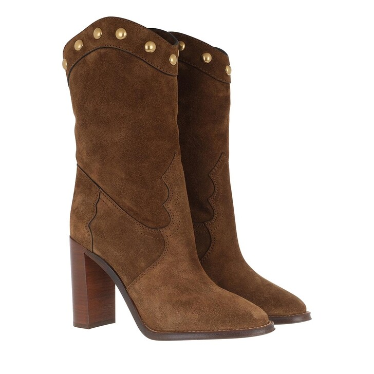 Schuh, Saint Laurent, High Boots Suede Land