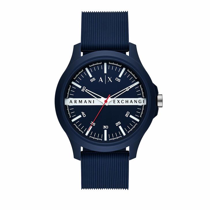 Uhr, Armani Exchange, Three-Hand Silicone Strap Navy
