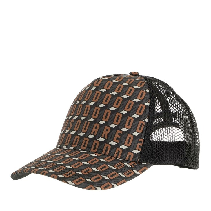 hats, Dsquared2, Basebcall Cap Brown