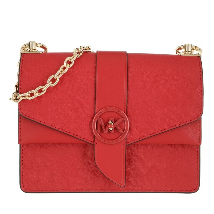 Handtasche, MICHAEL Michael Kors, Small Conv Xbody Handbag  Leather Bright Red