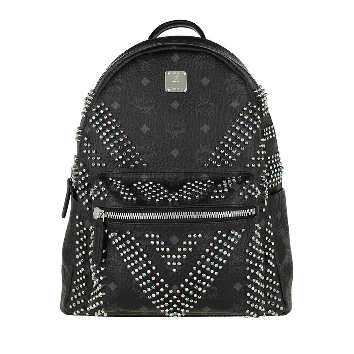 bags, MCM, Stark Studs Backpack Black