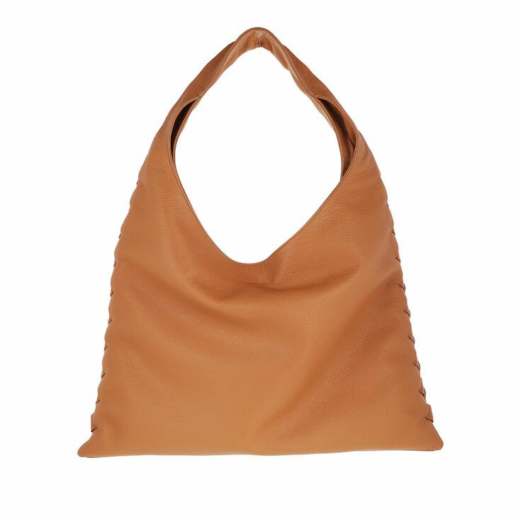 bags, Borbonese, Medium Chelsea Hobo Bag Brown