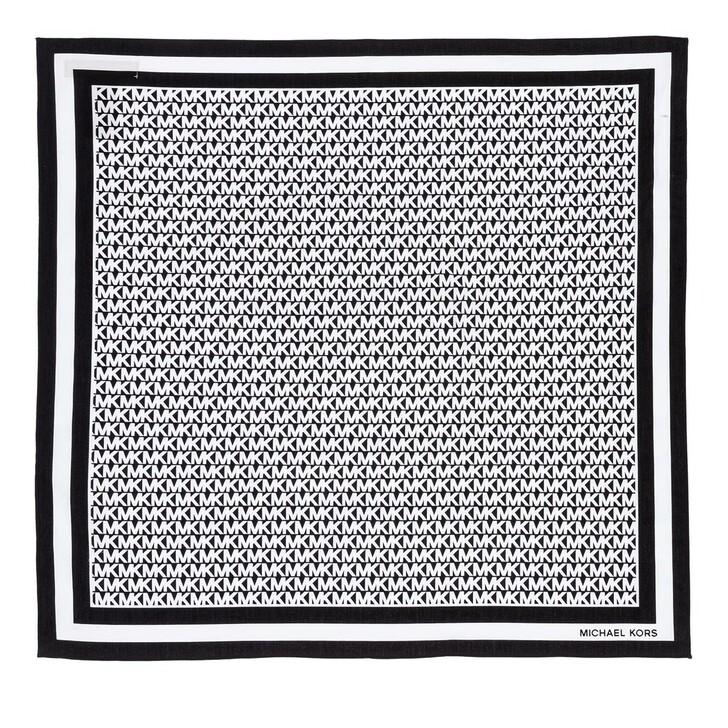 Schal, MICHAEL Michael Kors, Mk Logo Scarf Black/White