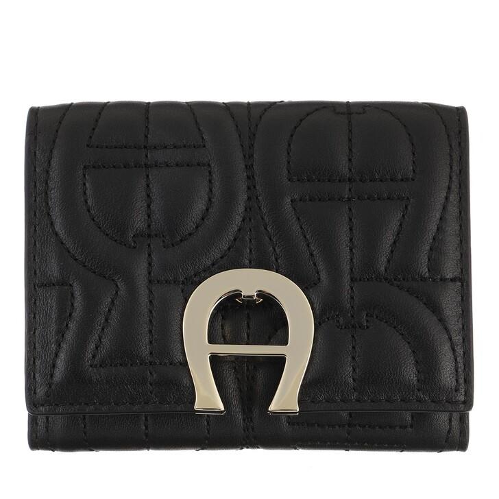Geldbörse, AIGNER, Card Holder   Black