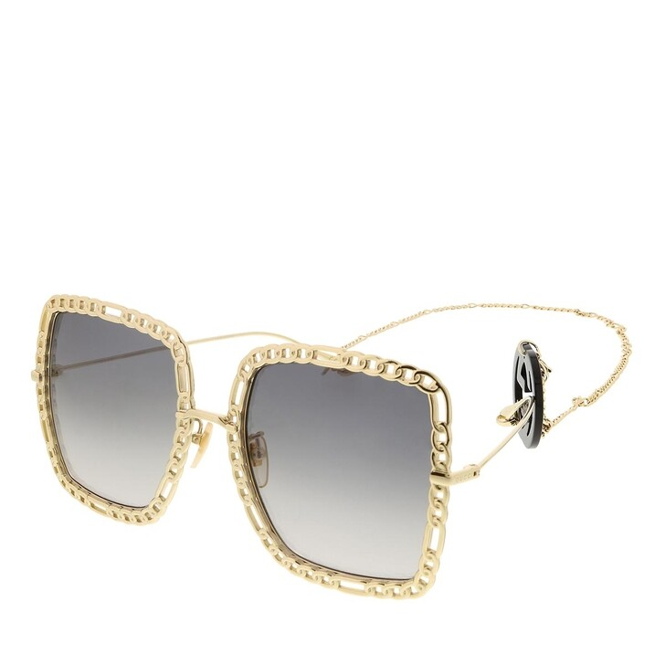sunglasses, Gucci, GG1033S-002 57 Sunglass Woman Metal Gold-Gold-Grey
