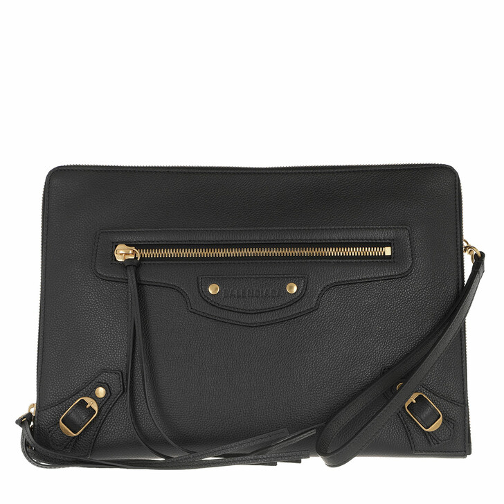 Handtasche, Balenciaga, Classic Clutch Grained Leather Black