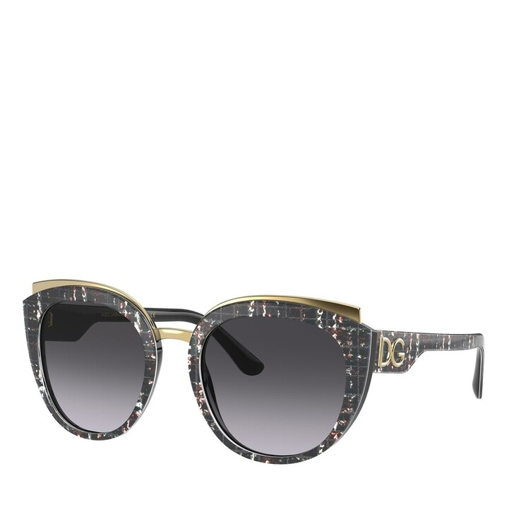 sunglasses, Dolce&Gabbana, AZETAT WOMEN SONNE PRINT BLACK TWEED