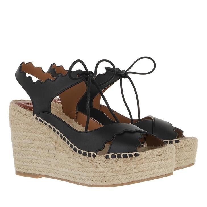 shoes, Chloé, Lauren Espandrilles Leather Black