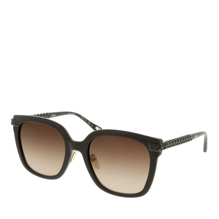sunglasses, Chloé, CH0075SK-002 56 Sunglass Woman Bio Injection Brown-Brown-Brown