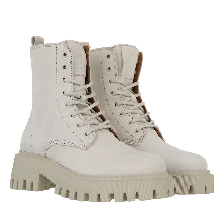 shoes, Toral, Ankle Boots With Track Sole White