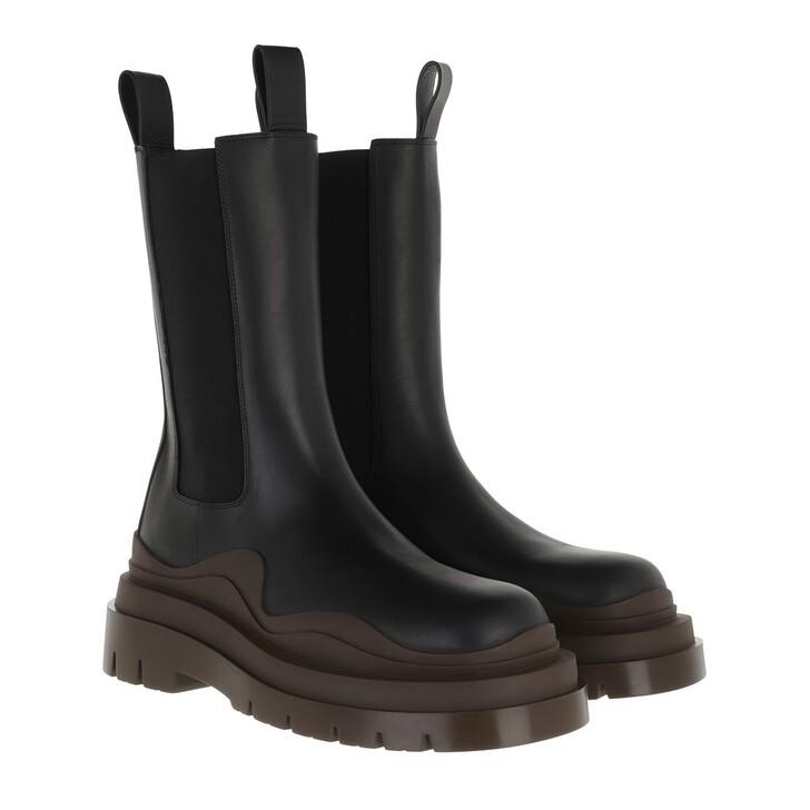 Schuh, Bottega Veneta, Tire Boot Leather Black Brown