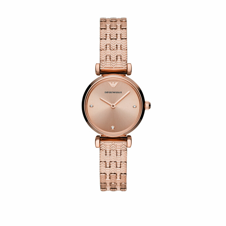 Uhr, Emporio Armani, Ladies Two-Hand Stainless Steel Watch Rose Gold-Tone