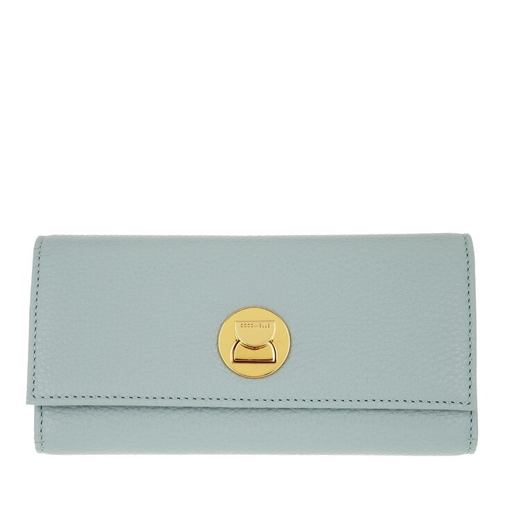 wallets, Coccinelle, Liya Wallet Grainy Leather Cloud