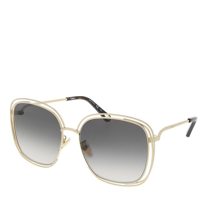sunglasses, Chloé, CH0077SK-001 58 Sunglass Woman Metal Gold-Gold-Grey