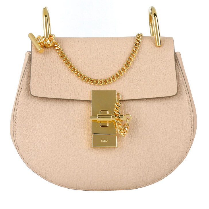 bags, Chloé, Drew Porte Epaule Mini Cement Pink