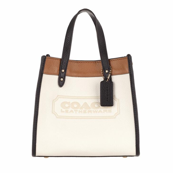 Handtasche, Coach, Colorblock Leather Coach Badge Field Tote 22 B4/Chalk Multi