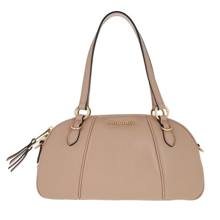 Handtasche, Miu Miu, Bowling Bag Leather Beige