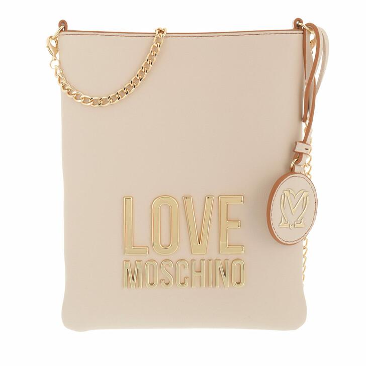 bags, Love Moschino, Borsa Bonded Pu  Avorio