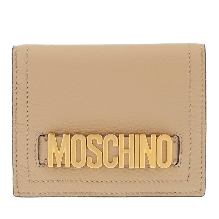 wallets, Moschino, Portafoglio Beige