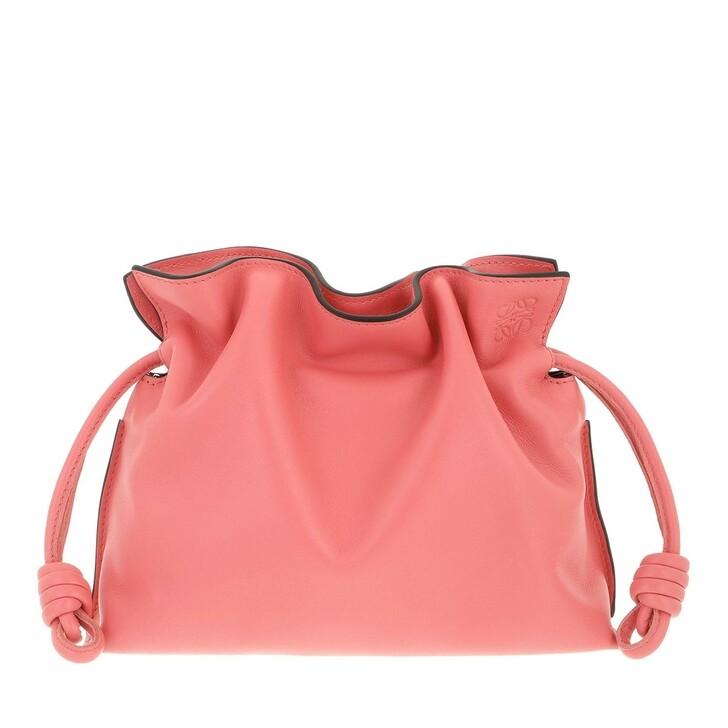 bags, Loewe, Mini Flamenco Clutch Nappa Calfskin Coral Pink